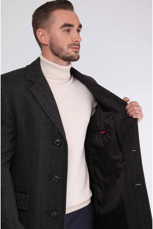 SunsHouse Мужское пальто E-500 (Bond) - Фото 4 - Sun's House