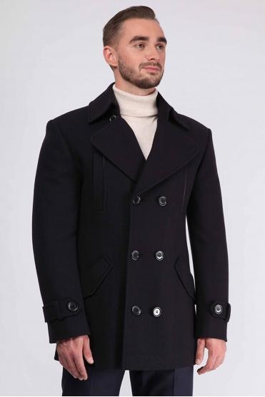 Мужское пальто K-451 (Kobalt) Фото 1 - Sun's House