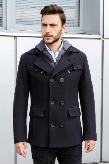 Чоловіче пальто K-453 (Navi) Фото 1 - Sun's House