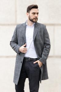 Мужские пальто в клетку - фото