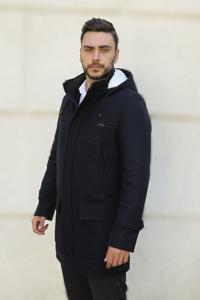 Пальто зимнее мужское с мехом