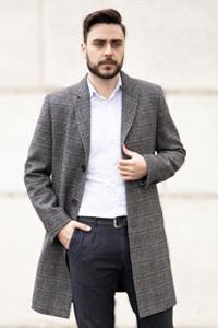 Стильное мужское пальто - Фото