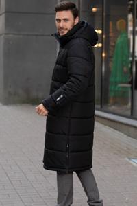 Мужские Куртки Длинные с Капюшоном
