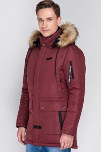 Мужские Куртки Зимние Бордовые
