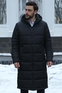 Зимові чорні чоловічі куртки