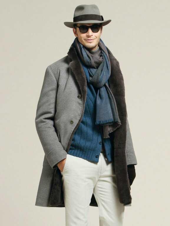Английское пальто мужское