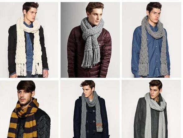 Как завязать шарф на пальто - фото