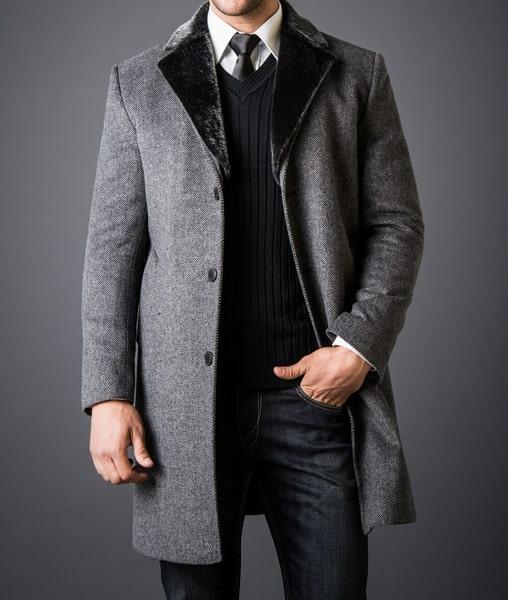 Мужское пальто украинского производства фото