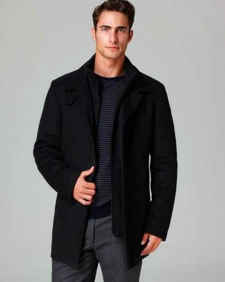 З чим носити синє чоловіче пальто