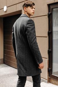 Выкройка мужского пальто - фото