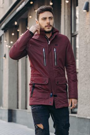 чоловіча куртка бордова