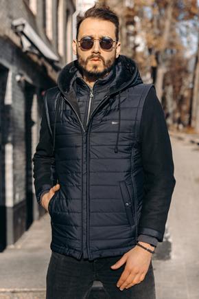 чоловічі короткі куртки з капюшоном