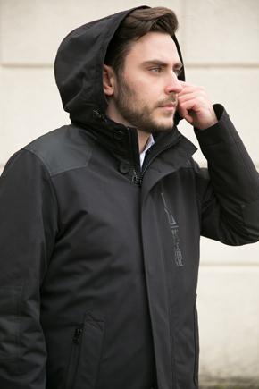 чоловічі осінні куртки з капюшоном