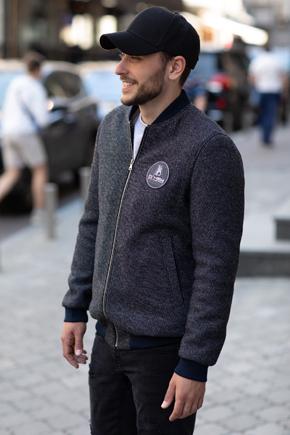 мужская куртка серая