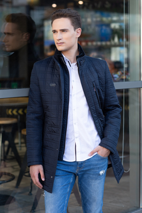 куртка синя чоловіча