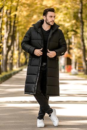 чоловіча довга зимова куртка