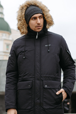 Чоловіча куртка Аляска чорна