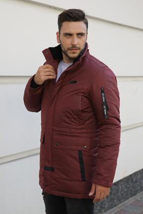 Мужские куртки аляски однобортные