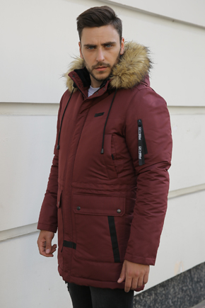 Чоловічі куртки аляски з капюшоном