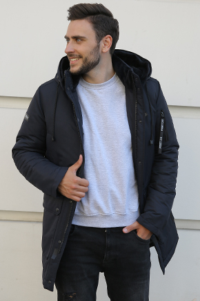 Чоловічі куртки аляски з коміром стійкою