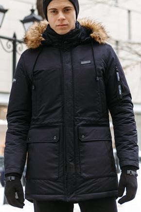 Мужская куртка Аляска синяя
