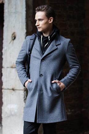 пальто мужское до колена