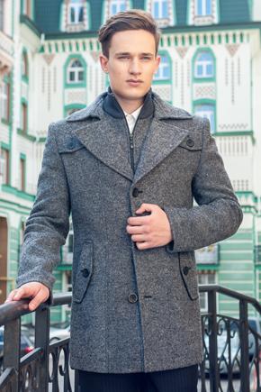 пальто чоловіче коротке сіре