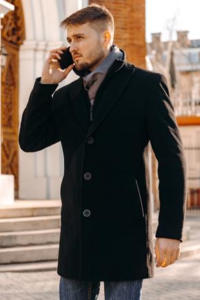 мужское флисовое пальто
