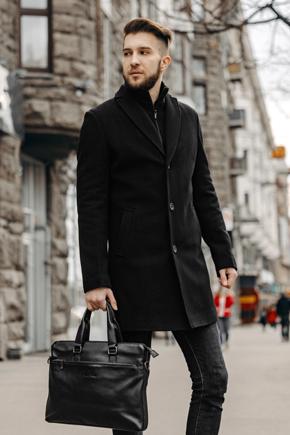 чоловічі пальта однобортні