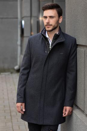 Мужские пальто полуприталенные