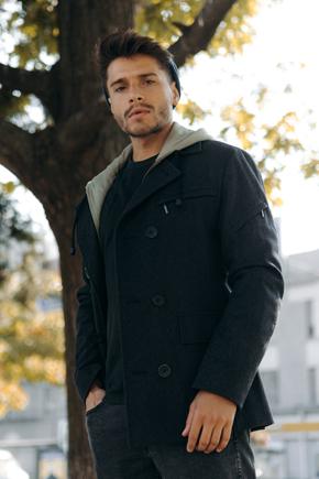 мужские пальто приталенные
