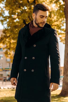 мужские пальто с меховым воротником
