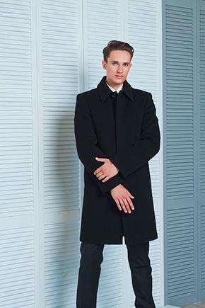 пальто с отложным воротником
