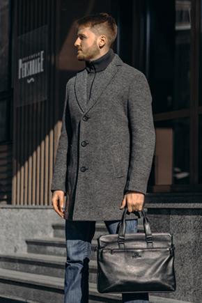 мужское пальто серое