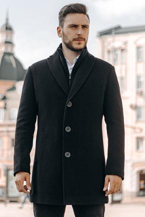 пальто мужское зимнее длинное