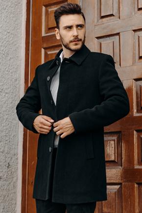 мужское зимнее пальто из кашемира