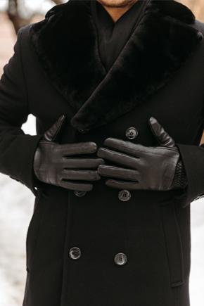 чоловіче зимове пальто з хутряним коміром