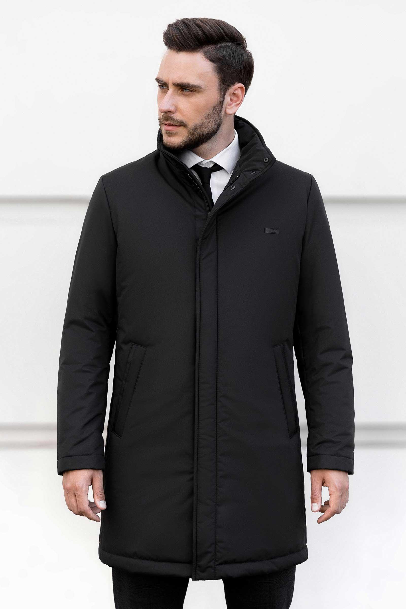 Купить мужскую черную куртку Киев - фото
