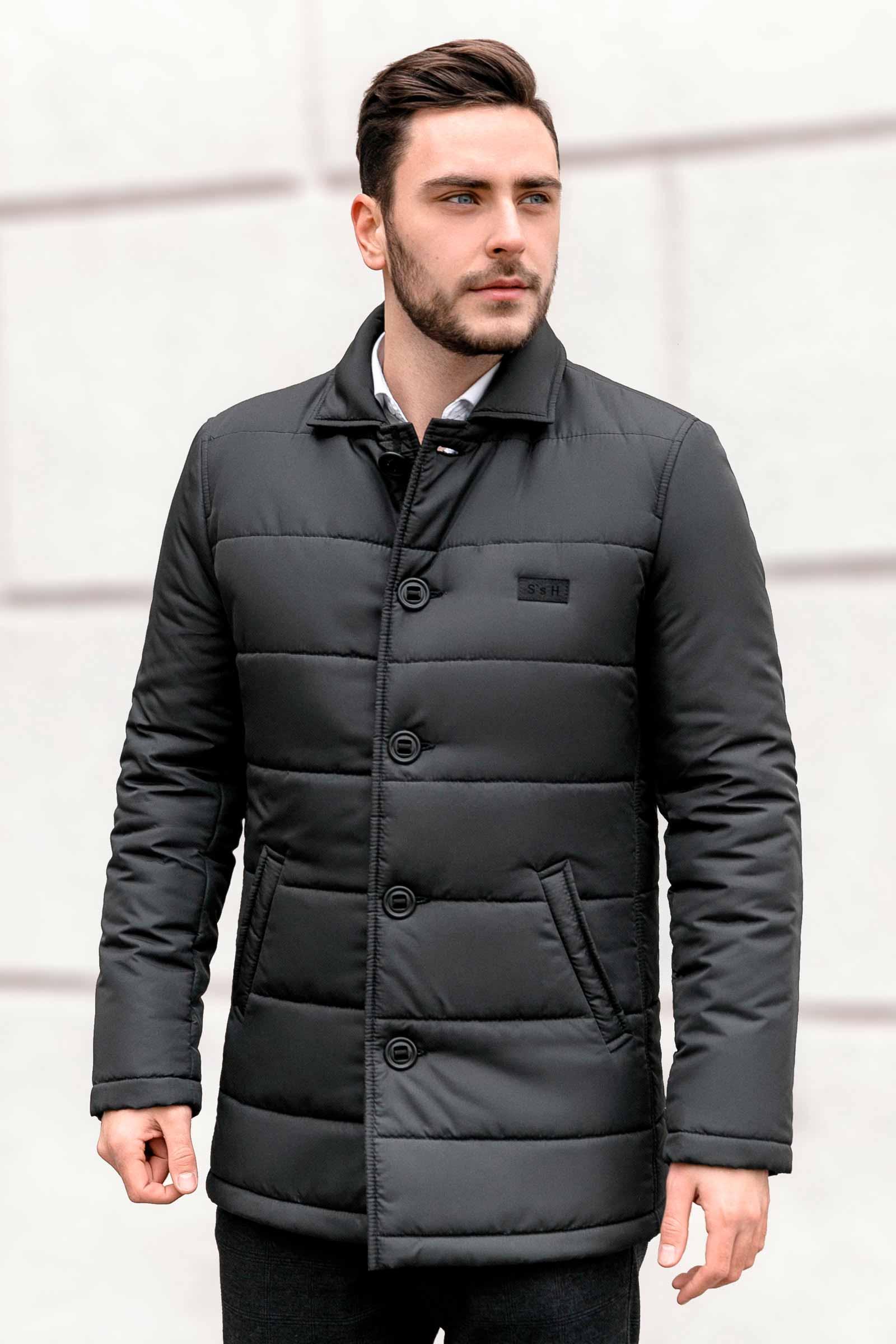 Купить мужскую черную куртку Харьков