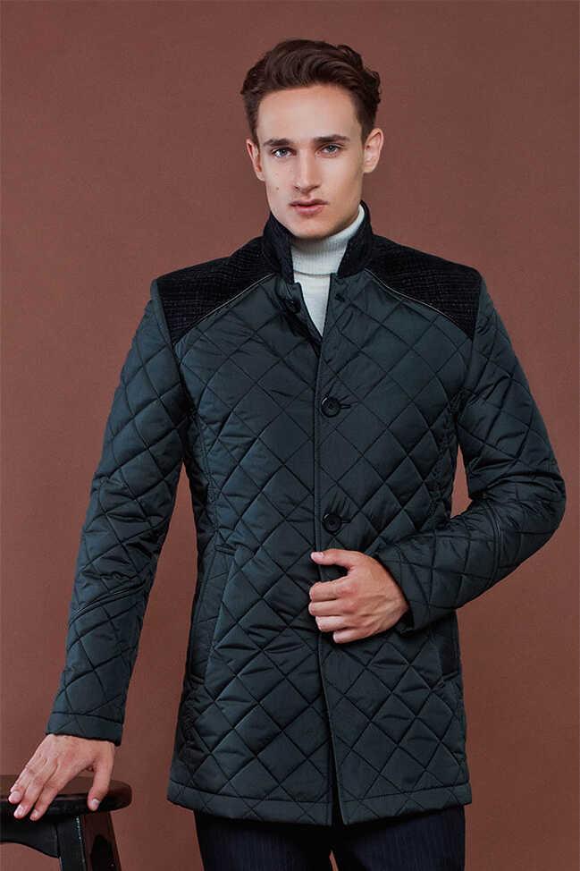 Купить мужскую черную куртку Николаев - фото