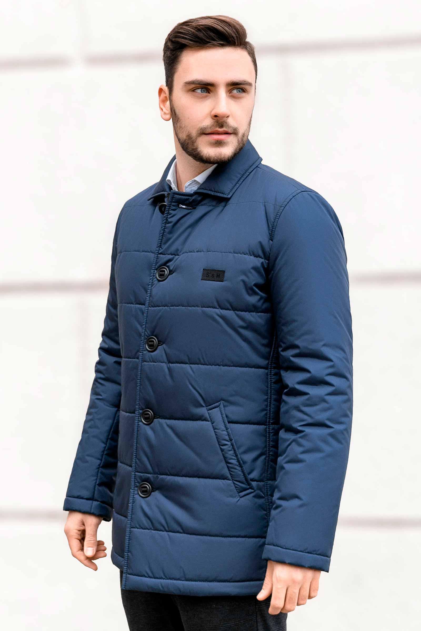 Купить мужскую синюю куртку Киев - фото