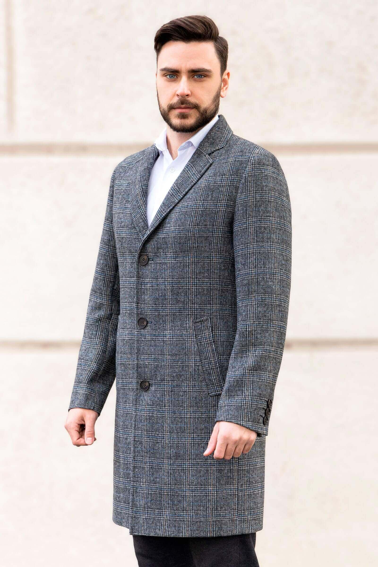 Удлиненное пальто мужское