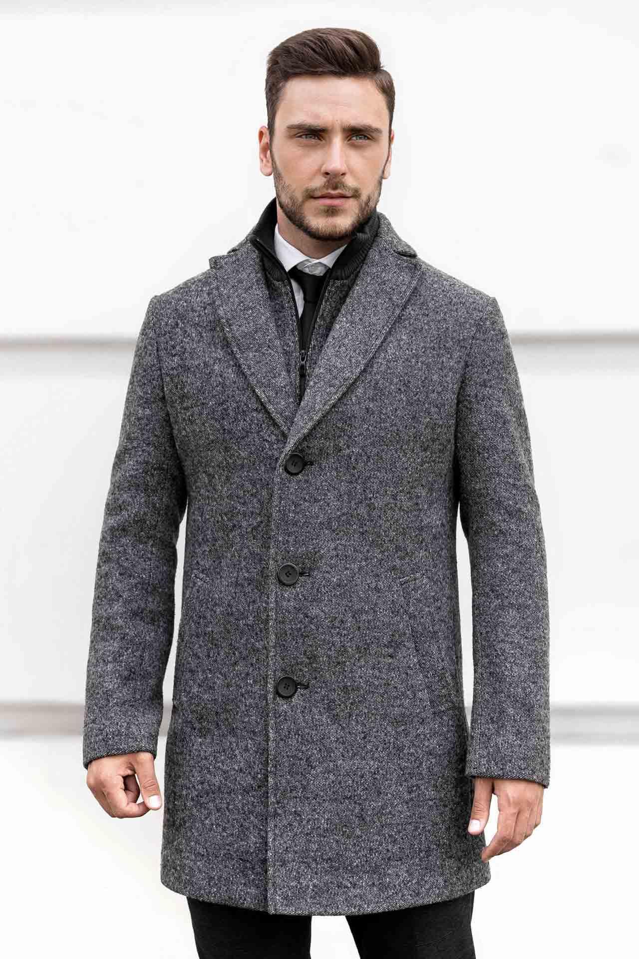 Мужские пальто из натуральной ткани