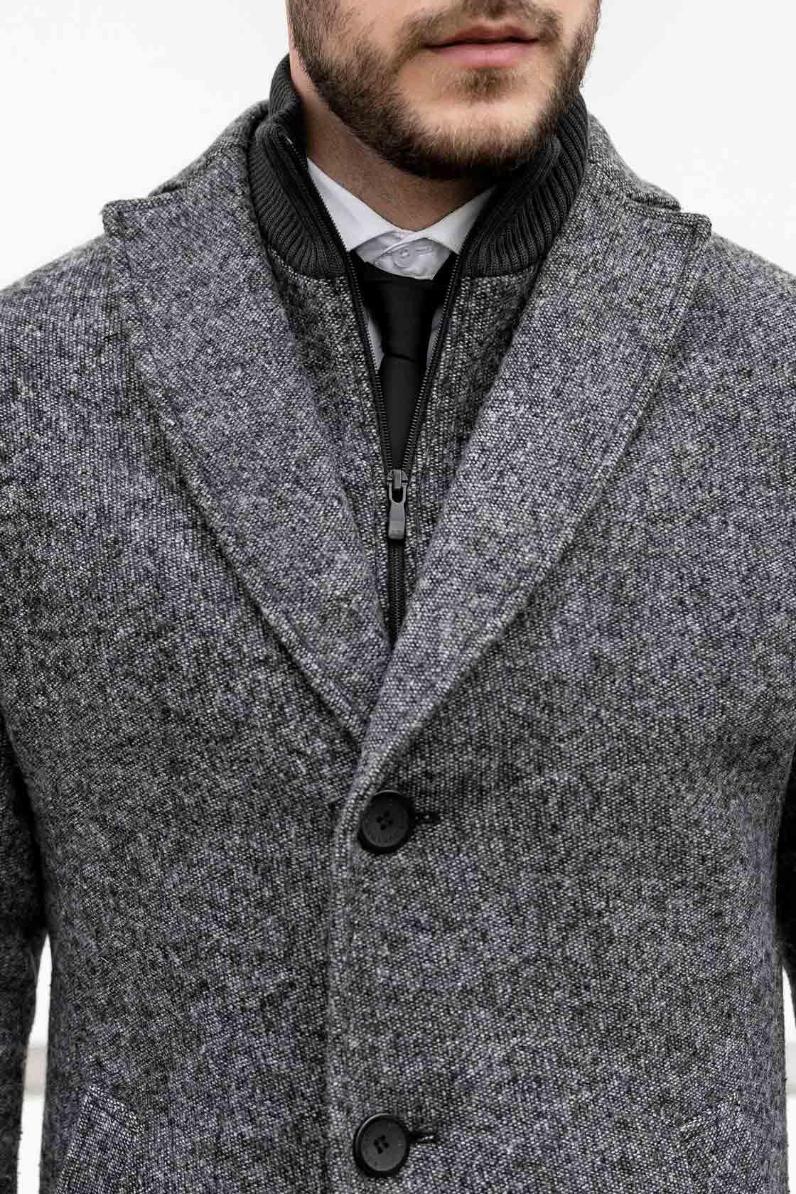 Драповое пальто мужское - фото