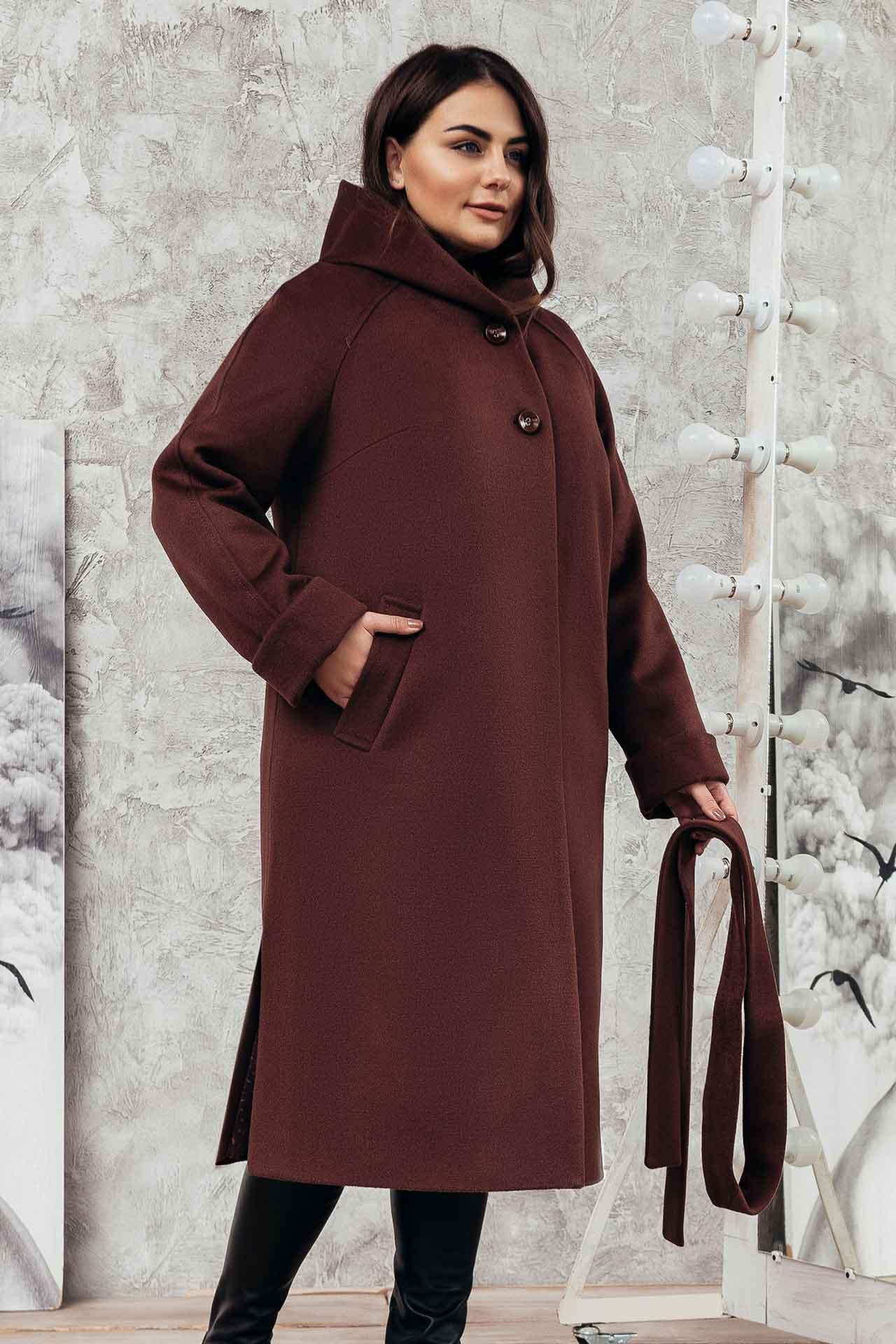 Женские пальто с капюшоном -  фото